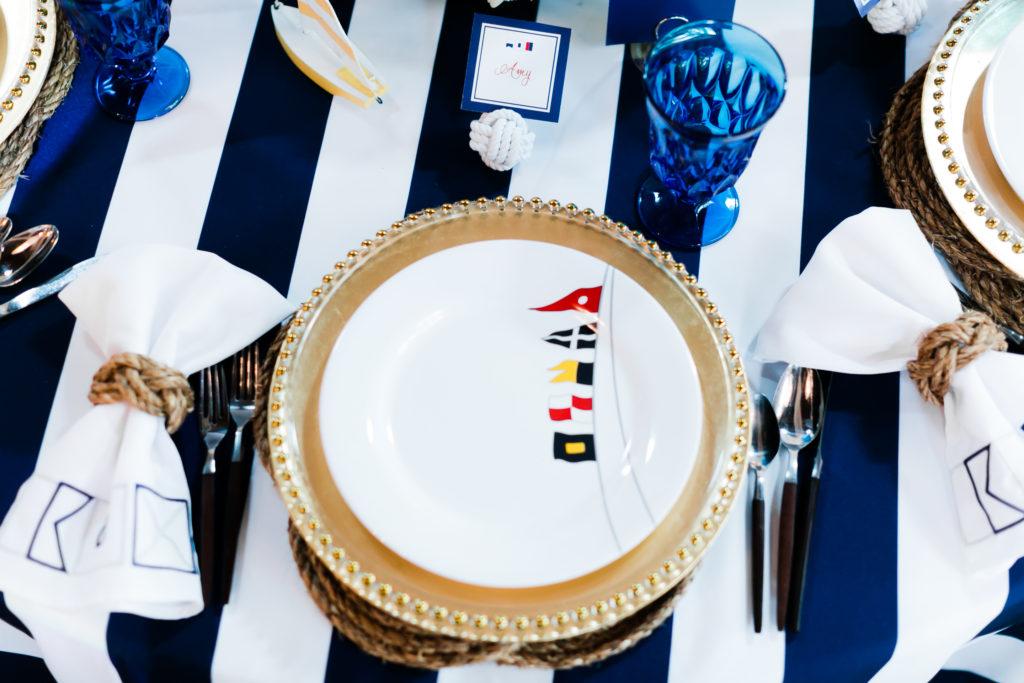 Waterford Wednesday:  Navy & White Stripe Linen