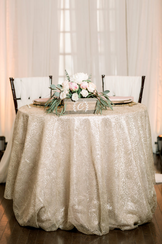 Waterford Wednesday: Champagne Floral Leaf Sequins Linen