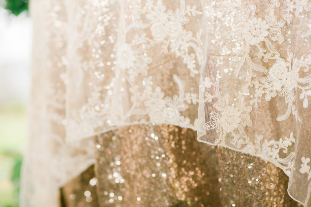 Waterford Wednesday:  Champagne Sequins Linen