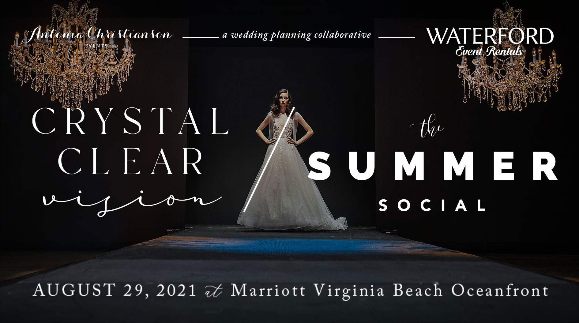 "A FACEBOOK ""LIVE"" EVENT! JOIN US FOR THE ANNUAL CRYSTAL CLEAR VISION WEDDING/BRIDAL EVENT & TABLE-TOP COMPETITION– THIS YEAR COMBINED WITH THE SUMMER SOCIAL!"