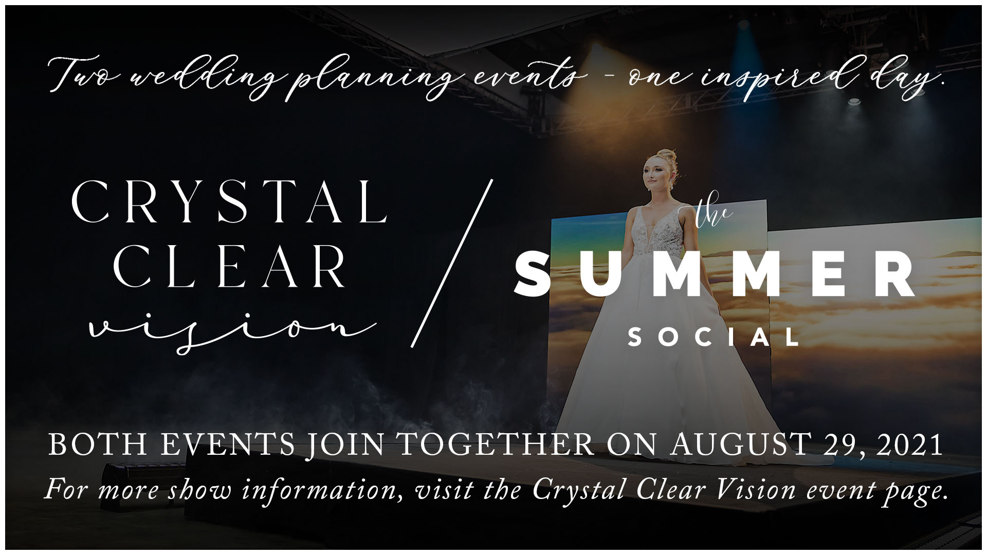 """AUGUST 29,2021: A FACEBOOK """"LIVE"""" EVENT! JOIN US FOR THE ANNUAL CRYSTAL CLEAR VISION WEDDING/BRIDAL EVENT & TABLE-TOP COMPETITION – THIS YEAR COMBINED WITH THE SUMMER SOCIAL!"""